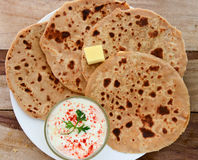 Indian Parantha (stuffed indian bread) Stock Photography