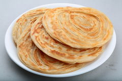 Indian Paratha. A multi layered flat bread Stock Photography