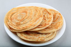 Indian Paratha. Multi layered flat bread popular in Asia Royalty Free Stock Images