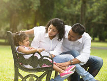 Indian parent dealing. With daughter with tantrum Royalty Free Stock Photography
