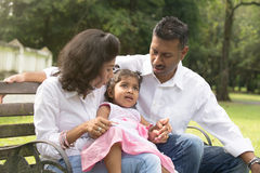 Indian parent dealing with daughter Royalty Free Stock Photography
