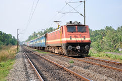 Indian Passenger Train. An Indian passenger train in Kerala, India Royalty Free Stock Images