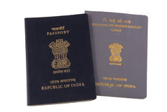 Indian Passport and PIO Card Royalty Free Stock Photography