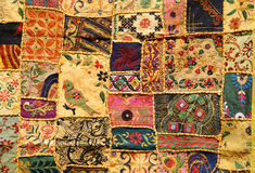 Indian patchwork. An indian patchwork wall cloth royalty free stock photo