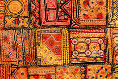Indian patchwork carpet Stock Photography