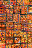 Indian patchwork carpet Royalty Free Stock Photos