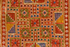 Indian patchwork carpet Royalty Free Stock Image