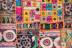 Indian patchwork carpet Royalty Free Stock Photography