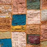 Indian patchwork carpet Royalty Free Stock Photos