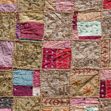Indian patchwork carpet Royalty Free Stock Images