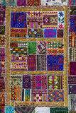 Indian patchwork carpet in Rajasthan. India. Asian patchwork carpet in Rajasthan, India. Close up royalty free stock photo