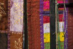 Indian patchwork carpets in Rajasthan, India Royalty Free Stock Photo
