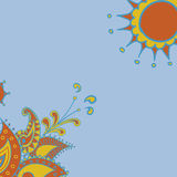 Indian pattern. Indian ornamet for your text, banner stock illustration