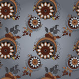 Indian pattern. Arabesque pattern including seamless sample in swatch panel Royalty Free Stock Photography