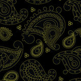 Indian pattern. Black and green indian pattern royalty free illustration