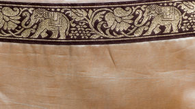 Indian pattern background. Old Indian pattern with elephants Stock Images