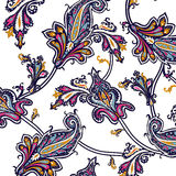 Indian pattern. Complicated Indian pattern on a grey background Stock Photography