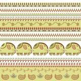 Indian pattern elephant Stock Photo