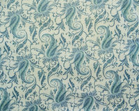 Indian pattern fabric. Blue and white Indian pattern fabric Royalty Free Stock Image