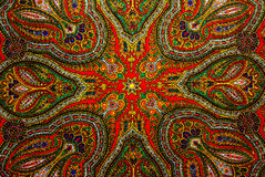 Indian pattern fabric. Colorful Indian pattern fabric background Stock Images