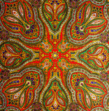 Indian pattern fabric. Colorful Indian pattern fabric background Royalty Free Stock Image