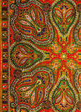 Indian pattern fabric. Colorful Indian pattern fabric background Stock Photos