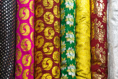 Indian pattern fabric. Is a row Stock Photos
