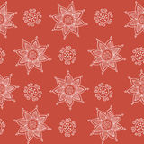 Indian pattern. Nice indian style pattern on red background Royalty Free Stock Photos