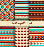 Indian pattern set. Royalty Free Stock Photography