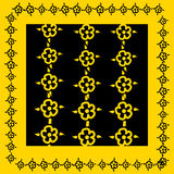 Indian pattern. In yellow and black color Stock Photos