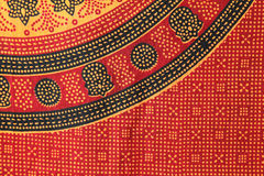 Indian patterned fabric Stock Photos