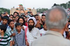Indian People at the border Stock Image