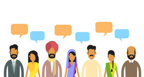 Indian People Group Chat Bubble Communication Concept, India Crowd Talking Social Network Royalty Free Stock Photo