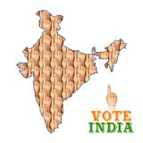 Indian people Hand with voting sign showing general election of India. Illustration of Indian people Hand with voting sign showing general election of India stock illustration