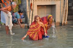 Indian People in Holy Varanasi. stock images