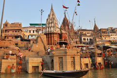 Indian People in Holy Varanasi. Royalty Free Stock Photos