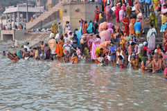 Indian People in Holy Varanasi Stock Photos
