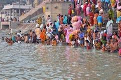 Indian People in Holy Varanasi stock photos