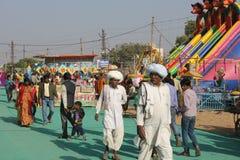 Indian People at Pushkar Fair Stock Photos