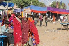 Indian People at Pushkar Fair Royalty Free Stock Photos