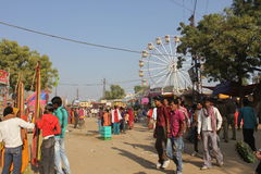Indian People at Pushkar Fair Royalty Free Stock Images