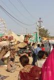 Indian People at Pushkar Fair Stock Photo