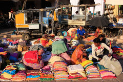 Indian people selling cloth, Sadar Market, Jodhpur, Rajasthan, I Royalty Free Stock Photography