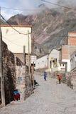 Indian people on the streets of iruya Stock Image