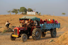 Indian People on a truck Royalty Free Stock Photo