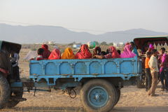 Indian People on a truck Royalty Free Stock Image