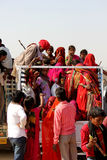 Indian People on a truck. Royalty Free Stock Photos
