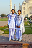Indian people visit Taj Mahal Stock Photography