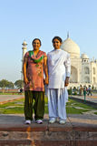 Indian people visit Taj Mahal Stock Image