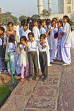 Indian people visit Taj Mahal Stock Images